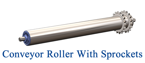 Conveyor Rollers With Sprockets